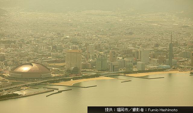 福岡市で午後から黄砂飛来
