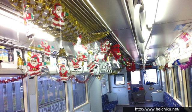 平成筑豊鉄道がクリスマスモードの車両運行