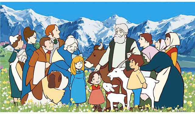 天神で「アルプスの少女ハイジとスイス展」開催