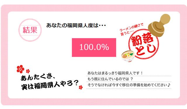 「福岡県人度調査」あなたは何%?