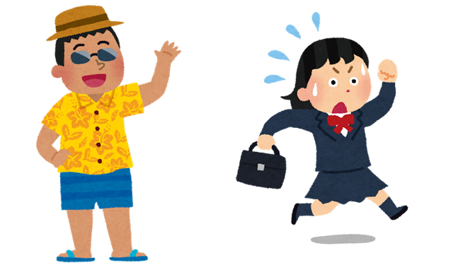 ナンパ? 久留米と小倉北区で女性に声かける中年男