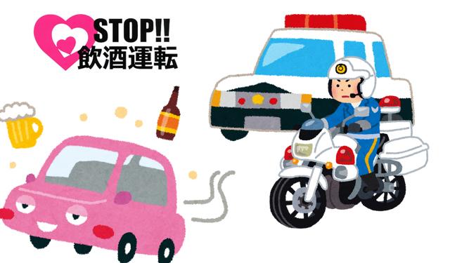 飲酒運転事故多発「飲酒運転集中取り締まり」今日から