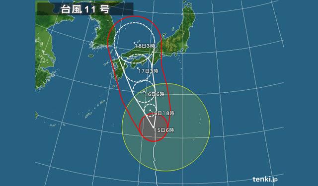 16日以降に九州に接近「台風11号」に注意が必要