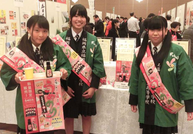 「旅人」で福岡農業高校生徒プロデュース商品を販売