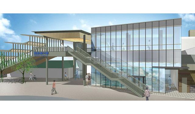西鉄柳川駅のリニューアルが完了、1階にはローソンも