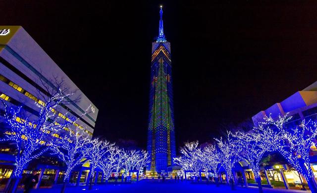 福岡タワー「クリスマスイルミネーション」20日に点灯式
