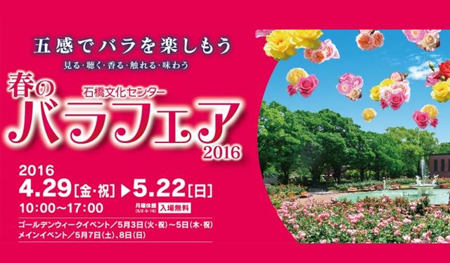 石橋文化センターで「バラフェア2016」開催