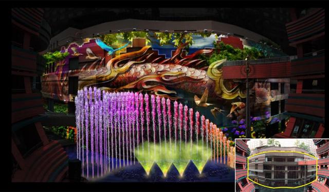 キャナルに「3Dプロジェクションマッピング×噴水ショー」導入へ
