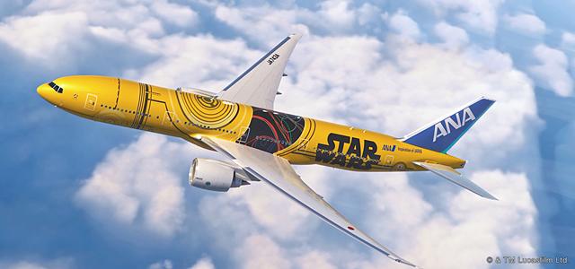 「ANA×スター・ウォーズ」コラボジェット機、羽田-福岡線に就航