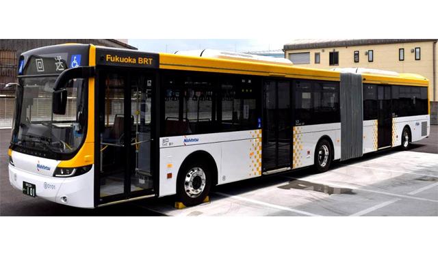 西鉄の連節バス試行運転、今日8日より開始 | 福岡のニュース