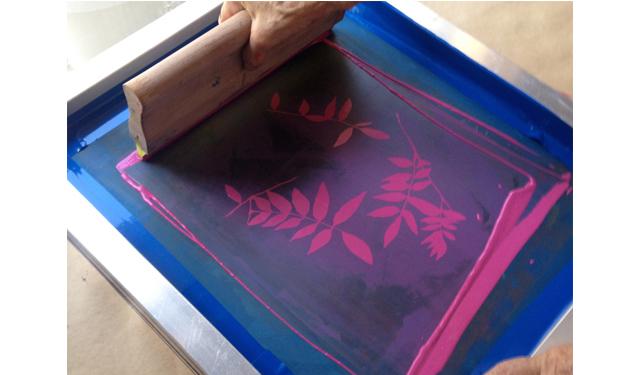 シルクスクリーン印刷体験ワークショップを開催