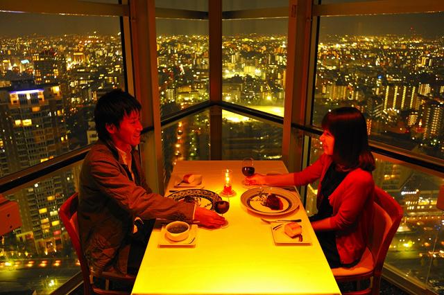 福岡タワー スカイラウンジ「ルフージュ」ホワイトデー特別ディナーコース