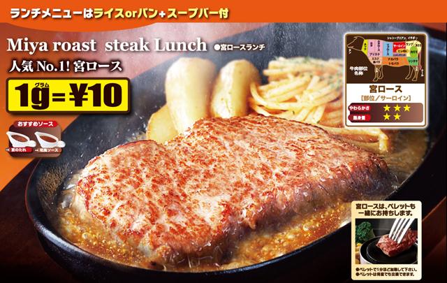 ステーキ&ハンバーグレストラン「ステーキ宮」九州初出店