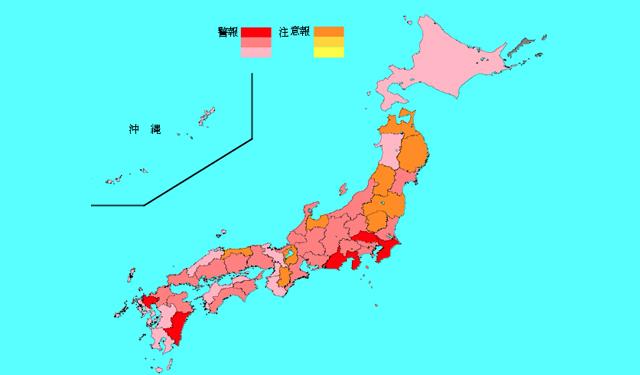 インフルエンザ感染拡大、福岡県がインフルエンザ警報発表