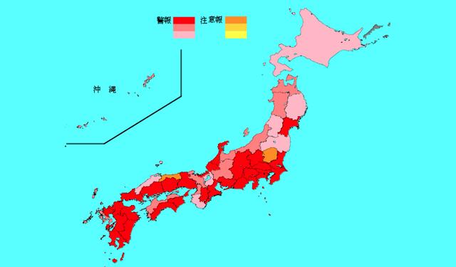 インフルエンザ感染、九州全域で流行中、福岡県は2位