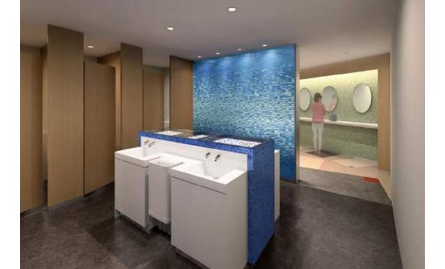 2階中央トイレは女性用に特化