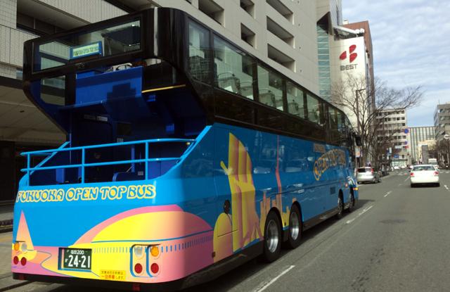 福岡オープントップバス「30万人突破記念キャンペーン」