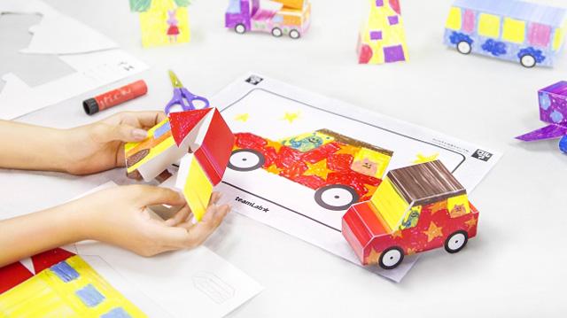 お絵かきタウンペーパークラフト / Sketch Town Papercraft teamLab, 2015-, Paper