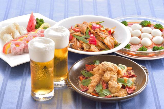 中国料理「鴻臚」大丸福岡天神店で『ビアホールプラン』今年も開催!