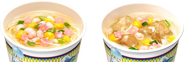温調理の例(左)と冷調理の例(右)