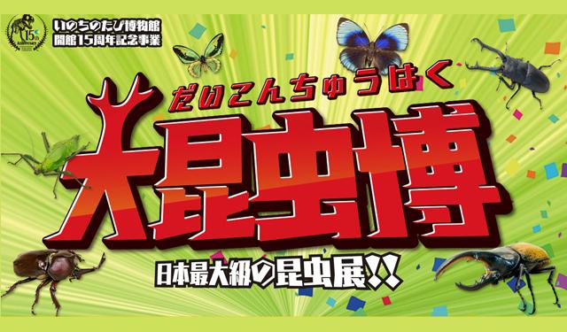 いのちのたび博物館「大昆虫博」日本最大級の昆虫展