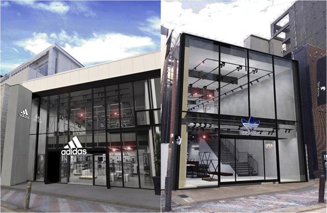 天神に九州最大のアディダス直営店が同時に誕生!