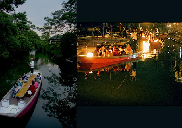柳川「灯り舟」ちょっと贅沢に夜のお堀めぐり(川下り)