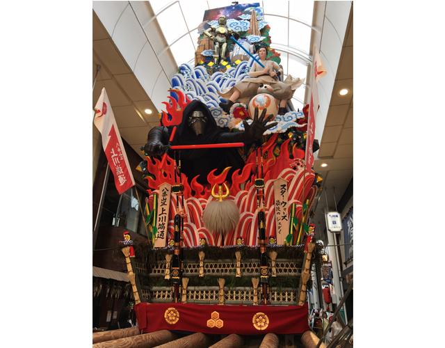 八番山笠 上川端通「スター・ウォーズ山笠」洋画を題材にした山笠の制作は史上初