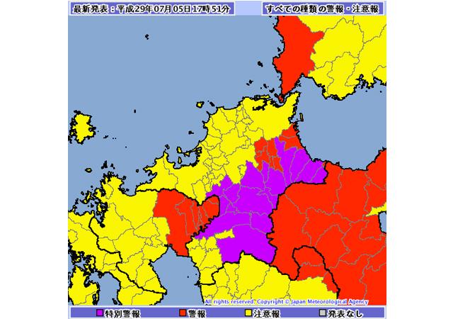 「福岡県に大雨の特別警報」九州北部で猛烈な雨続くおそれ 土砂災害など警戒
