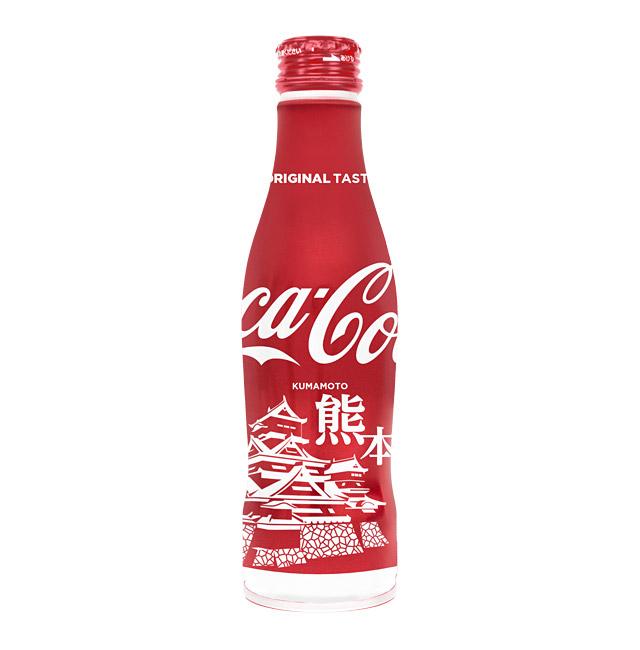 コカ・コーラ スリムボトル「熊本城」九州限定発売へ