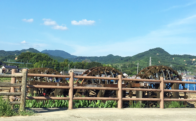 朝倉市の「三連水車」・「二連水車」が再稼働