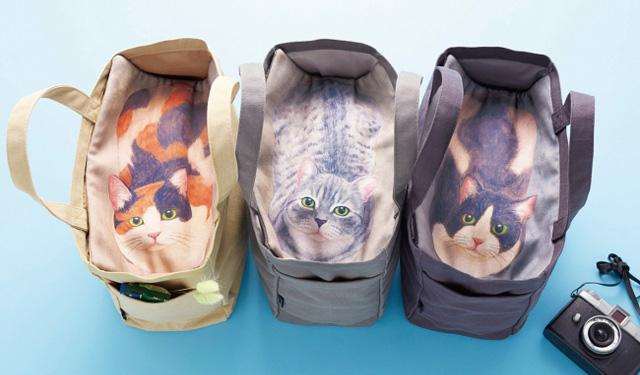 フェリシモ『のぞいたらニャンと!猫と目があう目隠しトートバッグの会』発売開始