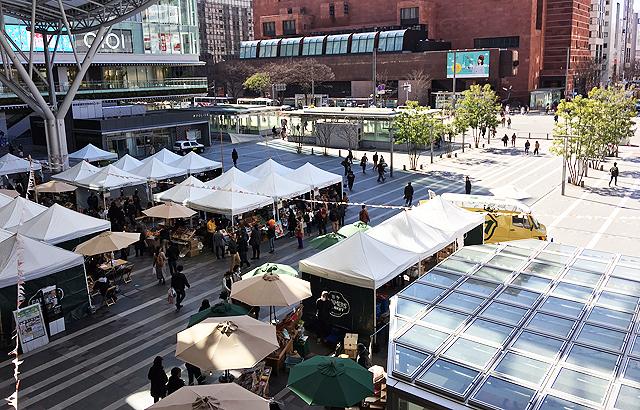 JR博多駅前広場で「博多ファーマーズマーケット」開催