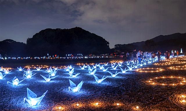 灯明の灯りによる光の道「第12回 太宰府 古都の光」
