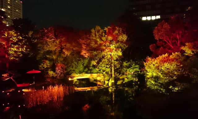 小倉城庭園「秋のライトアップ 十六夜庭園」