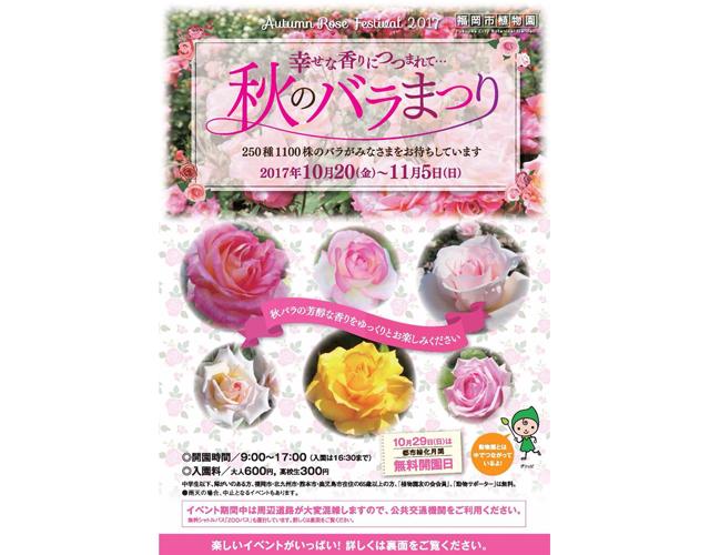 福岡市植物園で「秋のバラまつり」開催 グリッピも登場