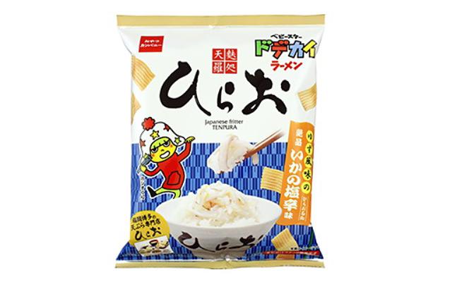 ベビースターラーメン『(ひらお)イカの塩辛味』爆誕!