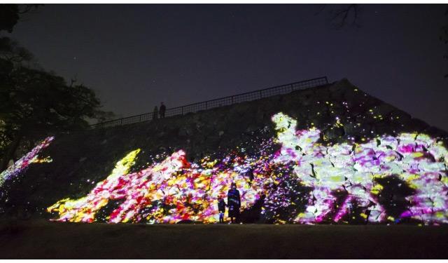 『福岡城 チームラボ 城跡の光の祭』にて年越しのカウントダウン開催へ