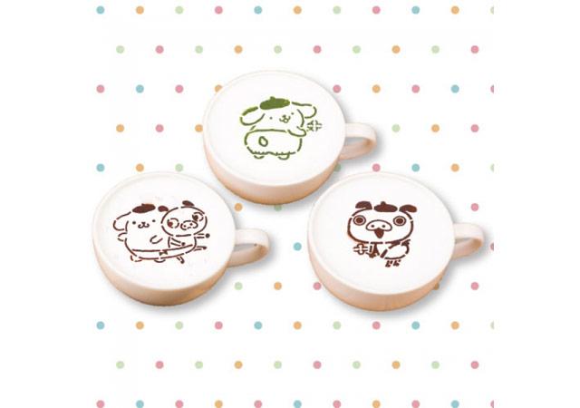 抹茶ラテ・ホワイトモカラテ・マロングラッセラテ 各650円