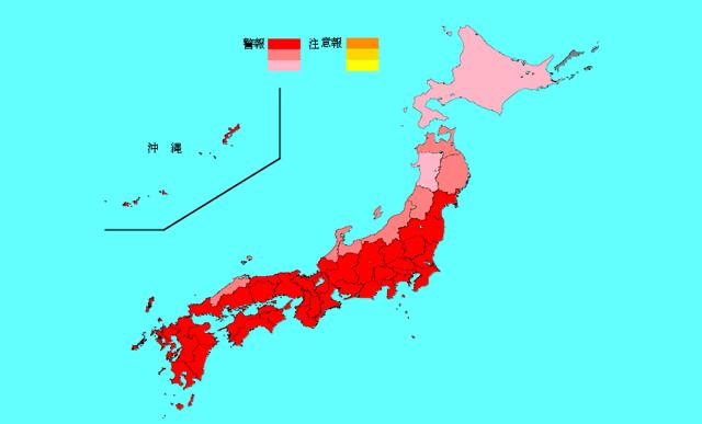 インフルエンザ全国で警報レベル超え、福岡県は全国3位