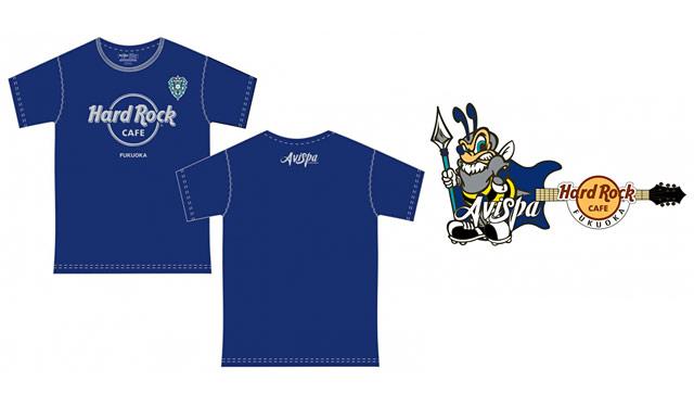 ハードロックカフェ福岡店がアビスパ福岡とコラボしたTシャツとピンバッジを発売へ