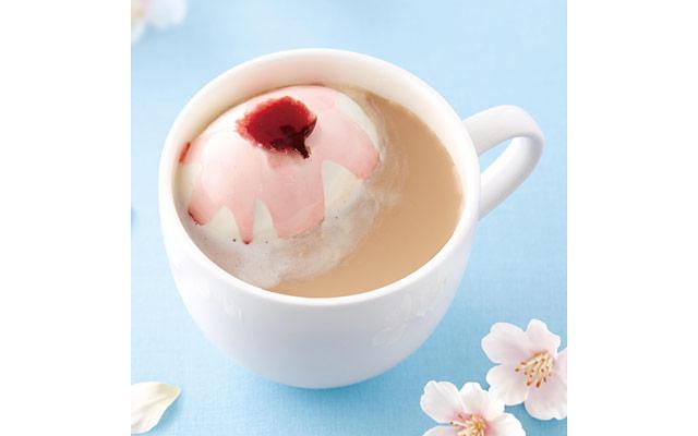 上島珈琲店に『山桜のミルク珈琲』が登場