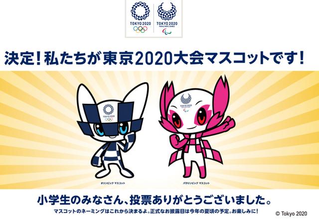 2020年東京オリンピック・パラリンピックの大会マスコット
