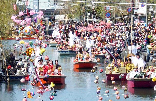柳川雛祭り「おひな様水上パレード」3月18日開催
