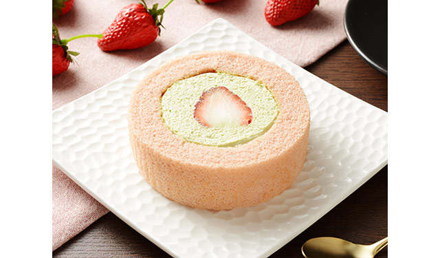 ローソンから『プレミアム苺とピスタチオクリームのロールケーキ もういっこ苺トッピング』発売へ