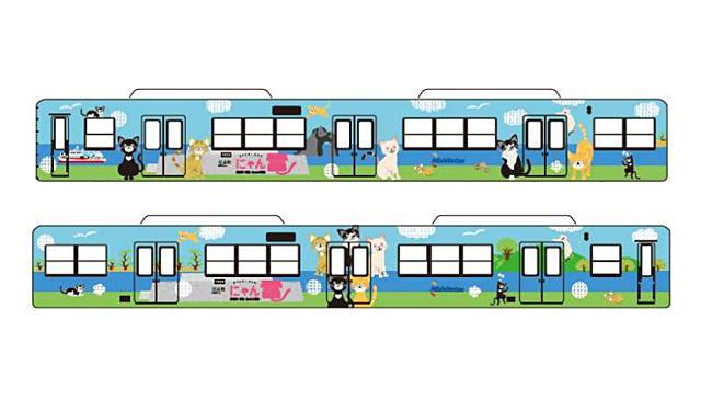 西鉄貝塚線でラッピング電車「にゃん電」運行へ
