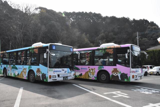 「福岡市動物園」新しいデザインのラッピングバス登場