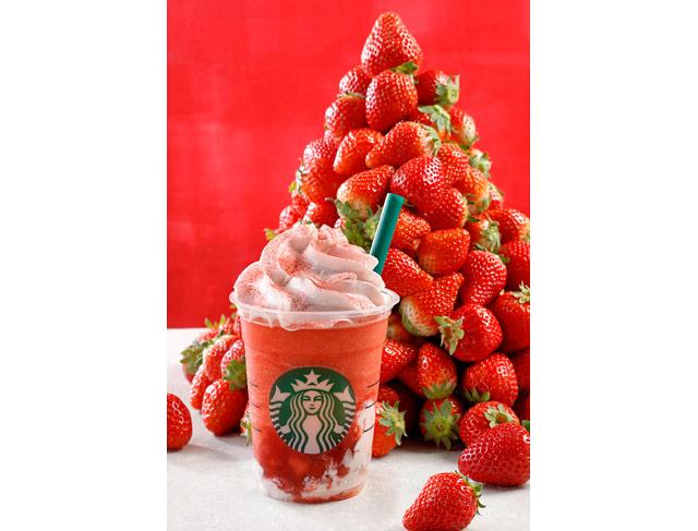イチゴ過ぎるイチゴ感「ストロベリーベリーマッチフラペチーノ®」発売へ