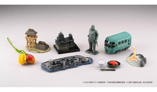 九州7県の名物がフィギュアに!『九州フィギュアみやげ』5月上旬より発売開始