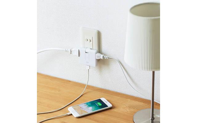 サンワサプライからスマホの充電用USBポート付き電源タップ登場
